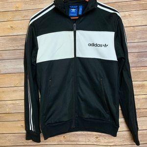 [Adidas] Black Zip Up Sweater